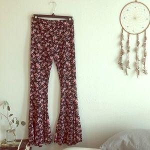 Pants - Basil Lola floral bell bottom pants